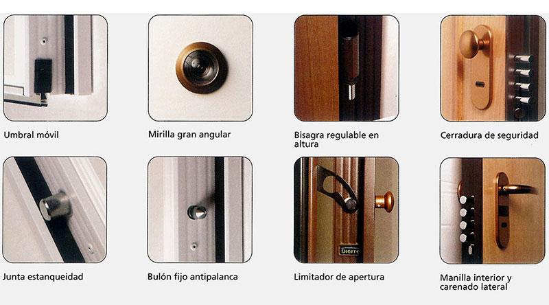 detalles de puertas acorazadas dierre