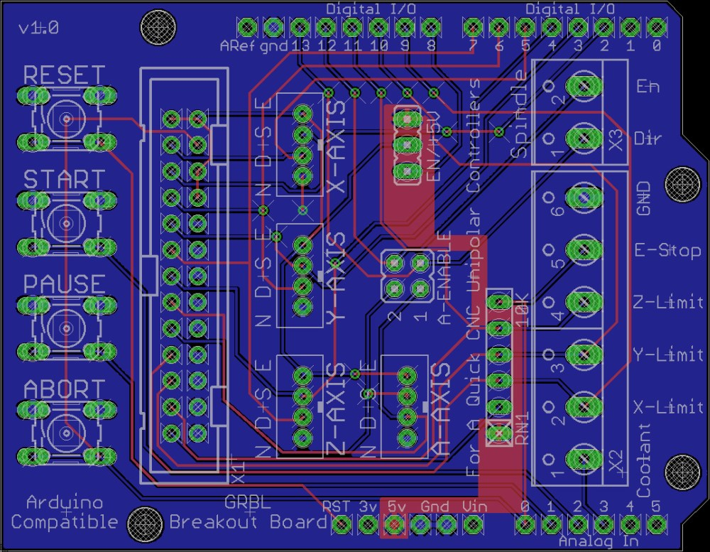 medium resolution of cnc 5 axis breakout board schematic 4 wire stepper motor