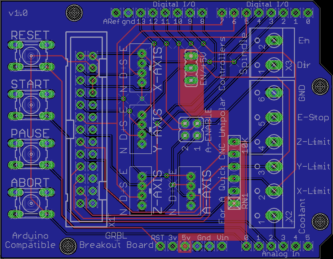 hight resolution of cnc 5 axis breakout board schematic 4 wire stepper motor