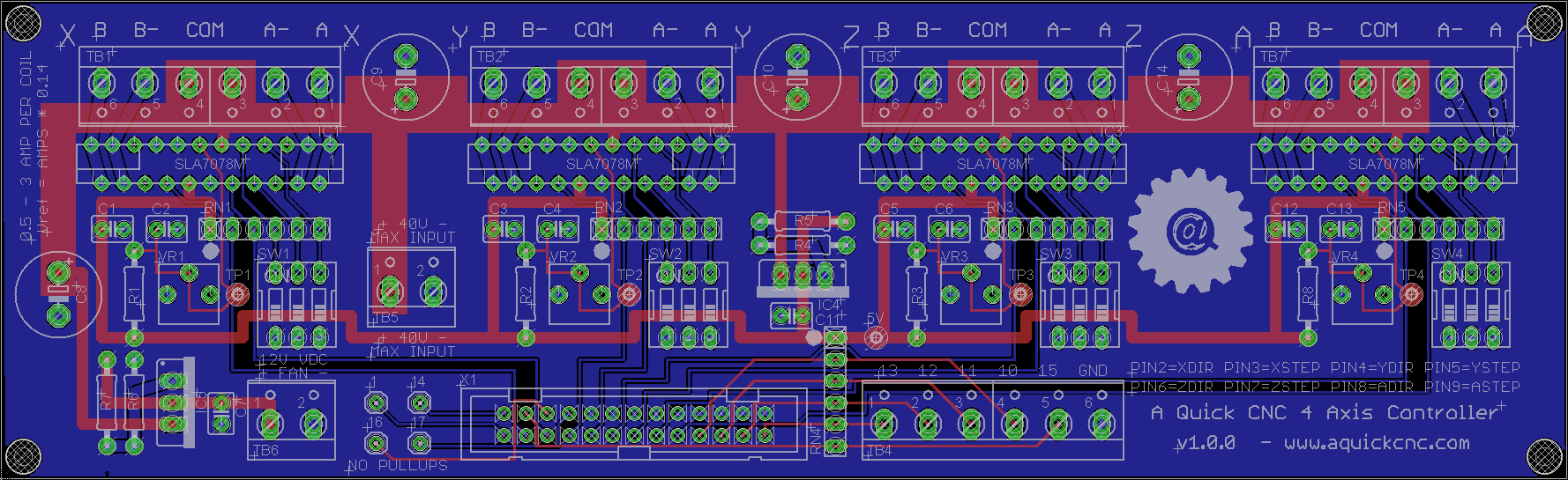 hight resolution of 4 axis diy cnc controller board png
