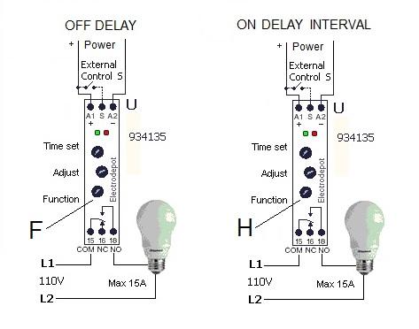 Timer relay 12v, 24v, 120 v, 240v