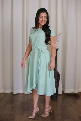 Vestido Mint Jany Pim em Áquila Tauheny Store | Moda Evangélica