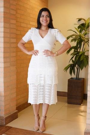Vestido Tricot Off White