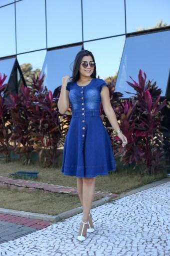 Vestido Jeans Godê em Áquila Tauheny Store   Moda Evangélica