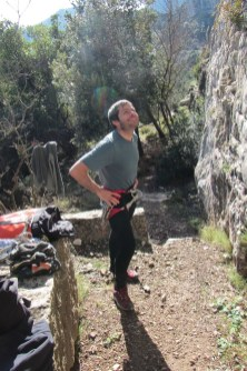 Ean pronto per l'arrampicata Old School