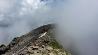 nebbia in vetta