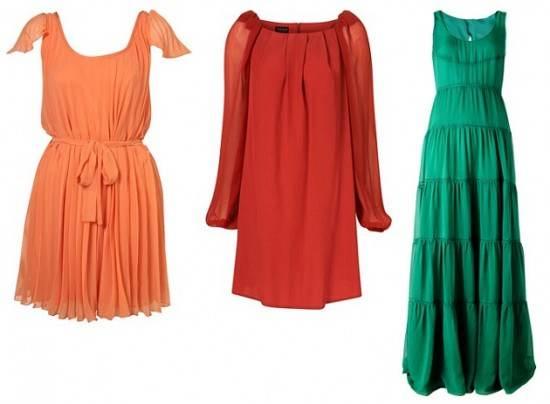 Vestidos de colores fuertes para fiestas  AquiModacom