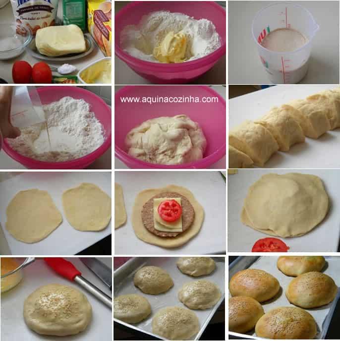 Pão de Hamburguer Recheado