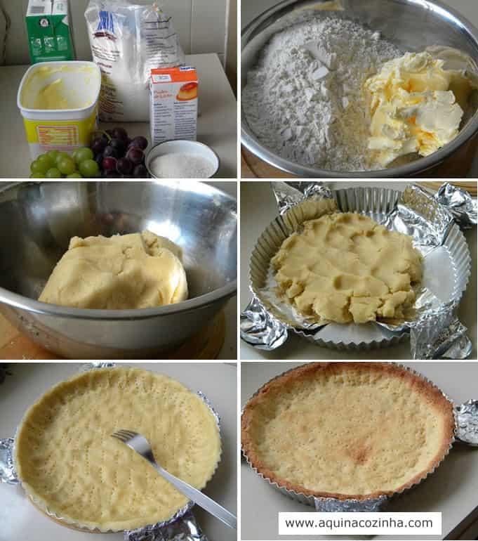 Torta guirlanda de uva receita