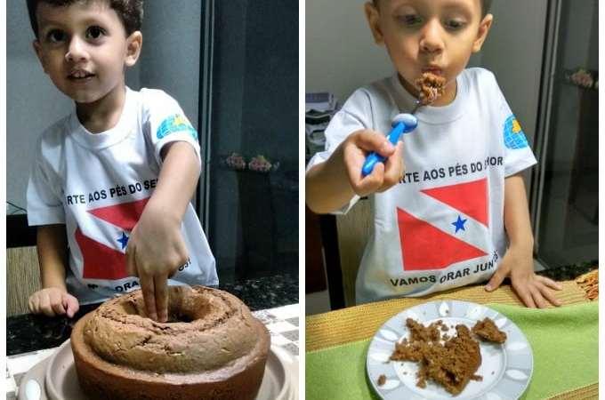 Bolo de Chocolate com Coco da Vovó Eliete