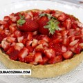 Torta de Chocolate com Morango lowcarb