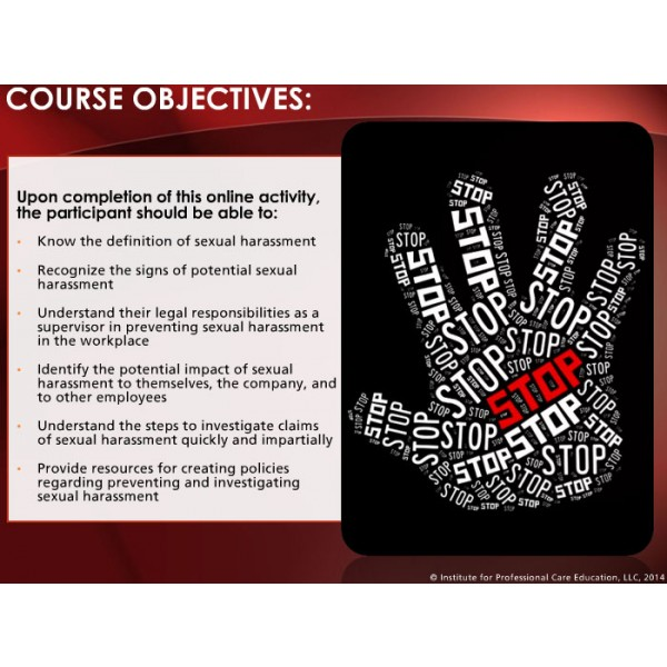 Sexual Harassment Prevention for Supervisors  aQuire Training Solutions