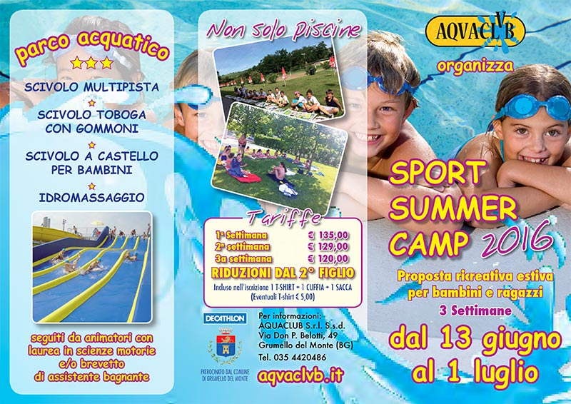 Campo estivo 2016 Sport Summer Camp  AQVACLVB
