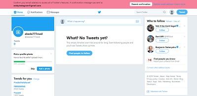 تسجيل تويتر جديد وشرح انشاء حساب Twitter بالعربي تسجيل عربي