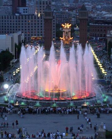 النافورة السحرية فى برشلونة