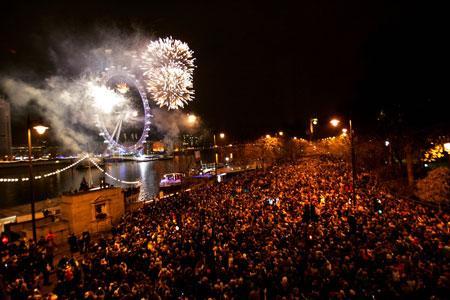 احتفالات راس العام فى لندن
