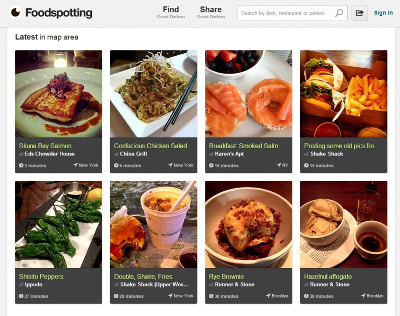 تطبيق Foodspotting