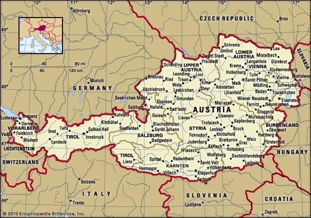 موقع النمسا