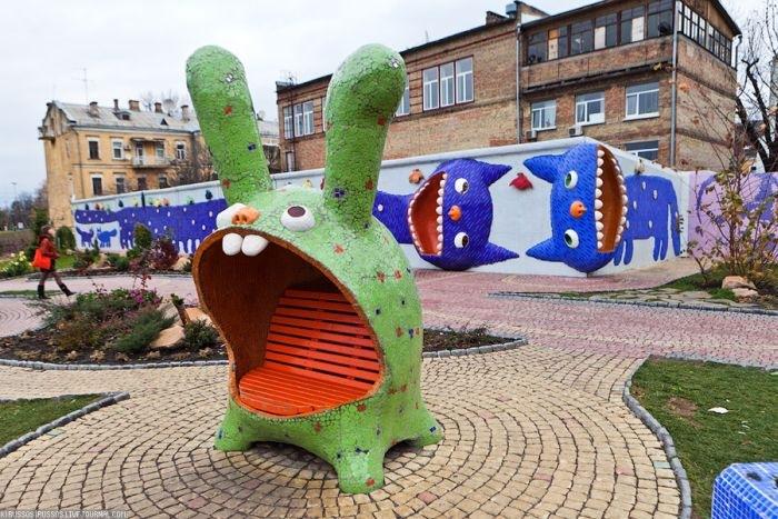 زقاق المنحوتات فى كييف