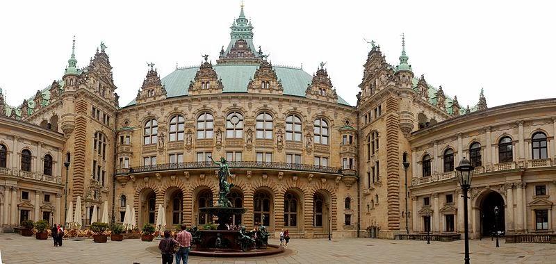 مركز المدينة فى هامبورغ المانيا