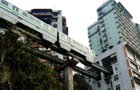 قطار الشقق السكنية بالصين