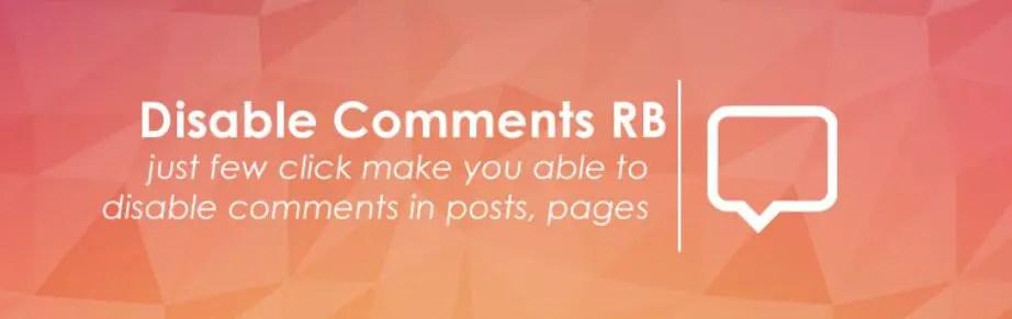 1 – إضافة Disable Comments
