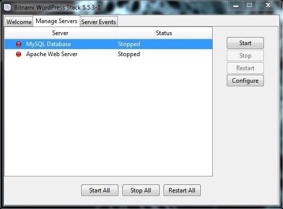 21 إيقاف تشغيل الخدمات برنامج BITNAMI WORDPRESS STACK