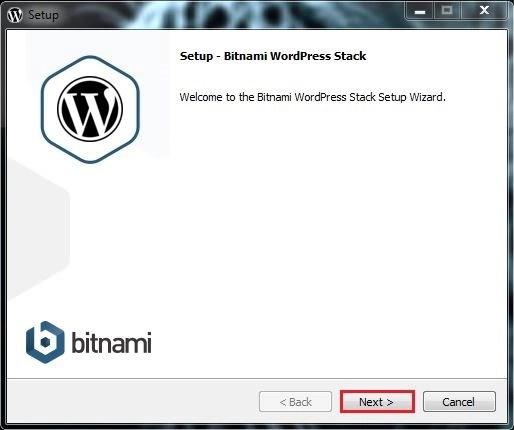 5 واجهة التنصيب الرئيسية برنامج BITNAMI WORDPRESS STACK