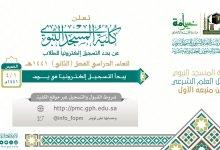 Photo of كلية المسجد النبوي تعلن بدء القبول للفصل الدراسي الثاني