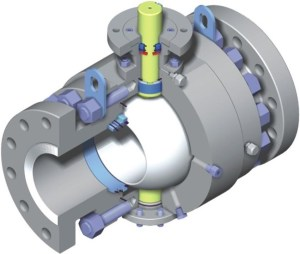 Ball Valve in Open position