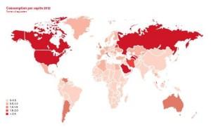 Consumption per capita 2012.