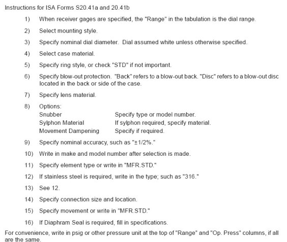 ISA S20-41 instructions