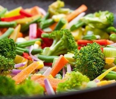تناول الخضروات
