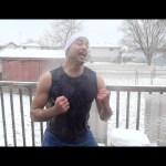 تحدي الثلج والماء المثلج بوزن 100 كيلو ودرجة حرارة -20 تحت الصفر |العاصفة الثلجية ضد التحدي الأكبر|