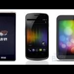 Galaxy Nexus, HTC Ville, LG U1: Ice Cream Sandwich