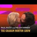 HELEN MIRREN & PAUL RUDD: Kissing Jack Nicholson! (The Graham Norton Show)