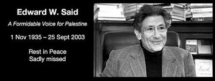 Edward Said Christopher Hitchens
