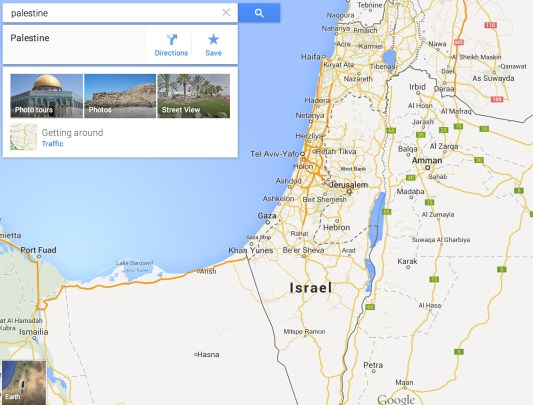 Palestine Does Not Receive Label on Google Maps on papua new guinea map google, guyana map google, swaziland map google, belarus map google, hungary map google, djibouti map google, georgia map google, venezuela map google, nauru map google, congo map google, new hampshire map google, seychelles map google, baghdad map google, kosovo map google, paraguay map google, monaco map google, uzbekistan map google, cook islands map google, bermuda map google, botswana map google,