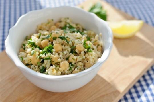 Safsoof - Burghul and Chickpea Salad