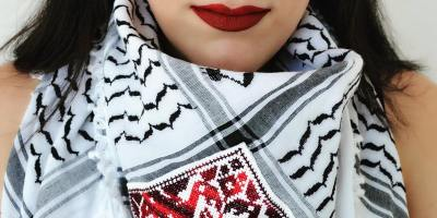 Palestinian Embroidery 301: Embroidered Keffiyeh (12 hrs/3 wks)