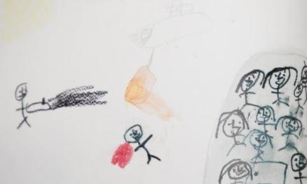 One Little Syrian Refugee didn't Stop Drawing. She Gave me this Message to Show You
