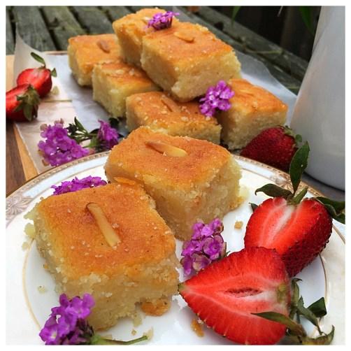 Semolina Yogurt Cake with Three Names: Harisseh, Namoura, or Basbousa