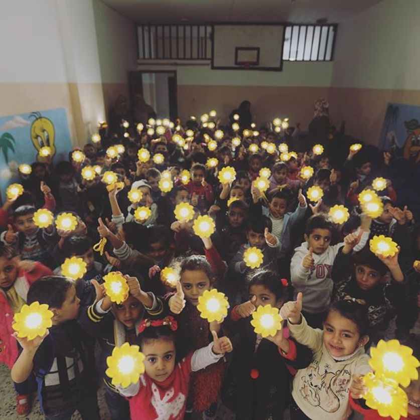 Palestinian Children aim to Inspire Americans with Gaza Light Message