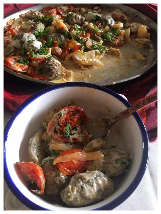 Kefta Bi Tahini: Kefta with Potatoes and Tahini Sauce