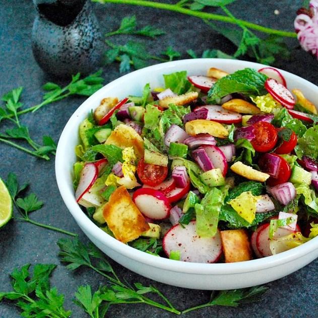 Lebanese Fatoush Salad at Niagara Falls' 755 Restaurant