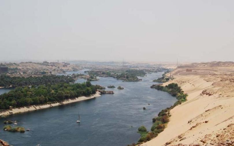 Why did the Ancient Egyptians live near the Nile River?