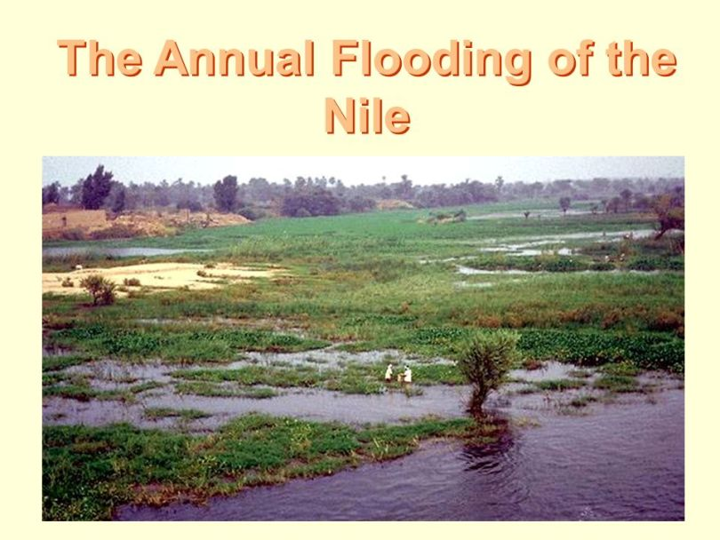 Why did the Ancient Egyptians live near the River Nile?