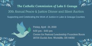 30th Annual Peace & Justice Dinner and Silent Auction