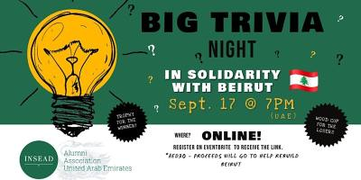 INSEAD Big Trivia Night - in solidarity with Beirut