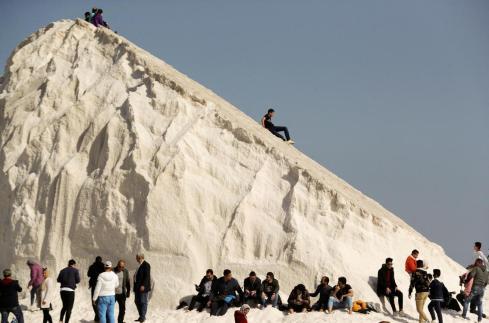 CNN Arabic Promotes Port Fouad Salt Mountains
